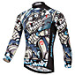 XINTOWN Men's Long Sleeves Cycling Jersey - White Bike Jersey, Quick Dry, Ultraviolet Resistant, Breathable, Spring Summer 3204
