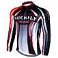 Nuckily Cycling Jacket Men's Long Sleeves Bike Jersey Top Waterproof Thermal / Warm Windproof Rain-Proof Reflective Strips Polyester 3204