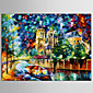 Hand-Painted Abstract / Landscape / Abstract Landscape Modern / European Style Oil Painting , Canvas One Panel 3204