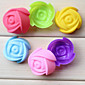 DIY Ice cream tubs Tray Pudding mold Fashion Color Rose Muffin cup mold (Random Color) 3204