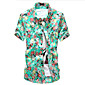 Brand Fashion Men's Short Sleeve Floral Printing Beach Shirt,Cotton / Polyester Casual / Sport Floral 3204