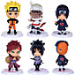 Naruto Action Figures Uzumaki Naruto Gaara Pein Killer Uchiha Obito Hoshigaki Kisame PVC Figures Toys 6pcs/set 3204