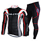 NUCKILY Cycling Jersey with Tights Men's Long Sleeve Bike Waterproof / Thermal / Warm / Rain-Proof / Reflective StripsJersey 3204