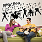 Wall Stickers Wall Decals Style Creative Rock PVC Wall Stickers 3204