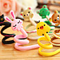 1Pcs Cartoon Animal Earphone Headphone Cable Roller Cord Organizer Wrap Winder(Random Color) 3204