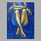 Blue Color Siting Lady Sexy Wall Art Decor Stretcher Ready To Hang 3204