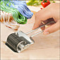 Noodle Lattice Roller Docker Dough Cutter Pasta Stainless Steel Spaghetti Maker Garlic Press 3204