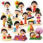 Chibi Maruko Chan Anime Action Figures Model Toys Doll Toy 1 set 5cm 3204