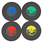 1Pcs Vintage Vinyl Coasters Groovy CD Record Table Bar Drinks Cup Mat (Ramdon Color) 3204
