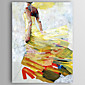Oil Painting a Woman Wearing a Skirt Hand Painted Canvas with Stretched Framed 3204
