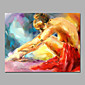 Sexy Nude Girl Siting On Ground Acrylic Paintings Stretchered 3204