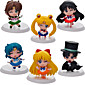 6PCS Q Version  Sailor Moon 5CM PVC Anime Action Figures Doll Toys Sets 3204