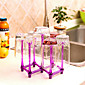 Foldable Cup Hanging Rack RED Wine Glass Holder Support Random Color 3204