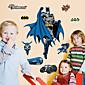 New Children's Bedroom Batman Wall Stickers Fashion Environmental Superhero Movie Wall Decals 3204
