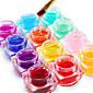 12PCS Mixed Color Pure Color UV Builder Gel UV Color Gel Polish Set Nail Art Decoration(8ML) 3204
