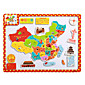 Children's Cartoon Puzzle Magnetic Wooden Tuba Puzzle Toys-The World Map 3204