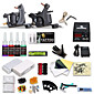 Dragonhawk Complete Tattoo Kit 2 machine 4 Tattoo Inks Power Supply 3204