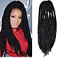 12-24 inch Crochet Braid Havana Mambo Afro Twist Hair Extension Natural Black 3204
