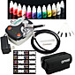 OPHIR Professional 0.3mm Airbrush Kit for Nail Art Airbrushing with 12 Colour Ink 10ml/bottle 20x Template 3204