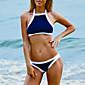 Women's Bikinis , Color Block / Bandage Push-up Nylon Blue / Black 3204