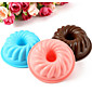 3pc Silicone Round Worm Cored Cake Mold Muffin Cup Baking Tool Chocolate Jelly Pudding Mould Random Color 3204