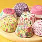 (Color random)100Pcs/Sale Cute Paper Cake Cup Liners Baking Cup Muffin Kitchen Cupcake dessert Ice cream Cases 3204