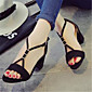 Women's Heels Summer Heels PU Casual Chunky Heel Others Black / Gray 3204