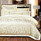 4-Piece Rome Style Jacquard Nobility High Quality silk Bedding, Embroidered Bedding Duvet Cover Set 3204