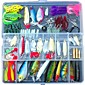 Fishing Lures Lots for Freshwater Saltwater ,Bass Trout Superfrog Colorful Crankbait Kit Sets (Pack of 131pcs) 3204
