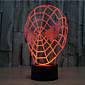 Spider-Man Touch Dimming 3D LED Night Light 7Colorful Decoration Atmosphere Lamp Novelty Lighting Christmas Light 3204