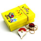 Little Pocket Pikachu  Alloy Brooch Fairy Ball Crystal Necklace(2PCS) 3204