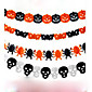 Paper Chain Garland Decorations Pumpkin Bat Ghost Spider Skull Shape Halloween Decor Garland 3204