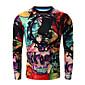 Men's Print Casual / Sport SweatshirtCotton Long Sleeve Red 3204