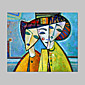 Hand-Painted People / Abstract Portrait One Panel Canvas Oil Painting For Home Decoration 3204