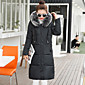 Long Down Coat,Simple Casual/Daily Solid-Others White Goose Down Long Sleeve Shirt Collar 3204