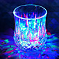 7 Colour Iinduction Light Cup LED Cup Rich Creative Light Color Changing Cup New Strange Birthday Gift  Valentine 3204