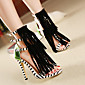 Women's Sandals Spring / Summer / Fall Comfort PU Outdoor Stiletto Heel Others Black Walking 3204