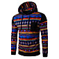 Men's Print / Color Block Casual / Sport HoodieCotton Long Sleeve Black / Gray 3204