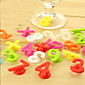 14Pcs Lot  Silicone Drink Digit Marker Suction Number Cup Sticker Glass Blackjack Recognizer Random Color 3204