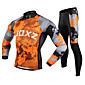 FJQXZ Cycling Jacket with Pants Men's Long Sleeve BikeThermal / Warm / Windproof / Anti-Fuzz / Lightweight Materials / 3D Pad / 3204