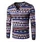 Men's Print Casual / Sport T-ShirtCotton Long Sleeve-Blue / Purple / Red 3204