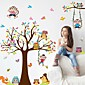 Fashion Story Tree Living Room Bedroom Children's Room Background Decorative PVC Removable Wall Stickers 3204