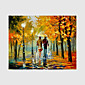 Hand-Painted Modern Street Scape PaintingsOne Panel Canvas Oil Painting 3204