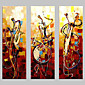 Hand-painted Wall Art Abstrac Home Decor Play Instruments Oil Painting on Canvas 3pcs/set No Frame 3204