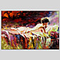 Abstract People Canvas Material Oil Paintings with Stretched Frame Ready To Hang Size 9060CM 3204