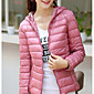 White duck down 6602 Sign autumn and winter new Korean thin hooded down jacket women short paragraph Slim large size women 3204