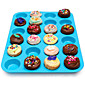 24 Cavity Silicone Muffin Cupcake Cookie Chocolate Mold Pan Baking Tray Mould Random Color 3204