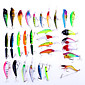 30 pcs Hard Bait / Soft Bait / Crank / Popper / Fishing Lures Soft Bait / Craws / Shrimp / Crank / Popper phantom / Random Colors 8 g 3204