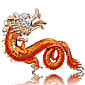 Creative Chinese Dragon Shape Alloy Key Ring 3204