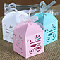 50 Piece/Set Favor Holder-Creative Card Paper Favor Boxes With Ribbon Non-personalised 3204